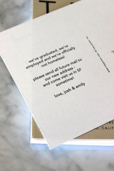 Tiny Prints moving announcements are simple and chic.