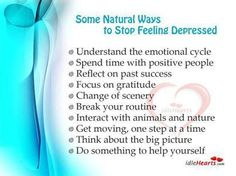 Natural Ways to control Depression