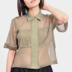 Olive Green Medium Mesh Shirt