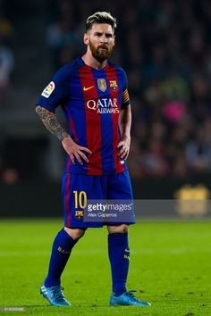 Lionel Messi of FC Barcelona looks on during the La Liga match between FC Barcelona and Granada CF at Camp Nou stadium on October 29, 2016 in Barcelona, Spain.