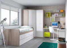 Dormitorio con Compacto Nido y Armario rincón