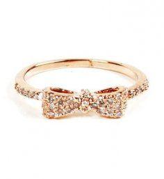 Rose Gold Ring - Mini Bow Gold Ring @Kate F. B