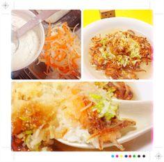 生姜たっぷりの野菜天ぷら和中華茶漬け(๑′ᴗ‵๑) by powerangix at 2014-3-20  追加写真、詳細、小ネタをブログ記事にしてます(๑′ᴗ‵๑) 気になる方はチェックしてみて下さい♪   野菜とショウガが香る鶏出汁かき揚げ茶漬け【ある日のカフェ飯:014】 |  a+cafe(あとカフェ)  http://atcafe.dualing-am.com/cafemeshi/yasai_kakiage_tyazuke/