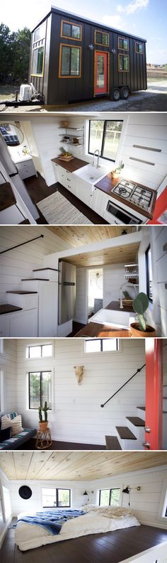 This 24-foot tiny house was built by Nomad Tiny Homes for a client that will use it as a getaway in the Texas Hill Country.