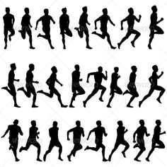 "Find ""male silhouette"" stock images in HD and millions of other royalty-free stock photos, illustrations and vectors in the Shutterstock collection. Silhouette Tattoos, Silhouette Images, Silhouette S, Running Images, Kunst Portfolio, Running Drawing, Human Vector, Running Silhouette, People Running"