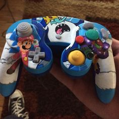 CustomIce King /  Super Smash Bros Melee Luigi Gamecube Controller