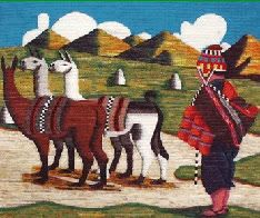 COSAS MIAS...: TAPICES DE SAN PEDRO DE CAJAS Mexican Paintings, Peruvian Art, Latino Art, Tapestry Crochet Patterns, Africa Art, Naive Art, Mexican Folk Art, Tapestry Weaving, Moose Art