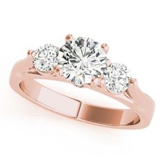 LUCIANA ENGAGEMENT RING in 14K Rose Gold - Price: ₹49,835.00. Buy now at http://www.solitairehouse.com/luciana-engagement-ring-in-14k-rose-gold.html