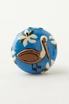 Things: Avian Knob #anthropologie-- it's a brown pelican!!! A must-have!!!