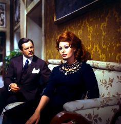 Sophia Loren and Marcello Mastroianni in Marriage Italian Style.