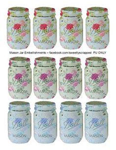 Sweetly Scrapped: Free Printable Mason Jars