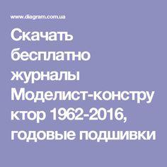 Скачать бесплатно журналы Моделист-конструктор 1962-2016, годовые подшивки