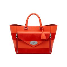 Mulberry - Willow Tote in Fiery Red Silky Classic Calf  amp  Haircalf Stripe  only 2 22f36e13656e9