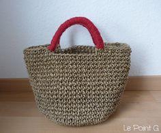 Image of Patron Sac cabas en corde au crochet Knit Crochet, Patron Crochet, Straw Bag, Macrame, Diy And Crafts, Basket, Etsy, Embroidery, Trending Outfits