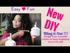 DIY Glam Holiday Gifts using a Doller Tree Lotion or Soap Dispenser Bottle - YouTube