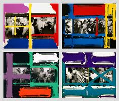 Stunning painted contact sheets from master image-maker William Klein