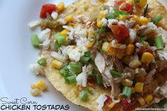 Mix and Match Mama: Dinner Tonight: Sweet Corn Chicken Tostadas
