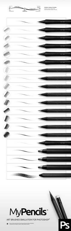 Pencil Photoshop Brushes. Download here: http://graphicriver.net/item/pencil-brushes/15815664?ref=ksioks