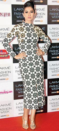 Gauahar (Gauhar) Khan at the Lakme Fashion Week 2014 curtain raiser. #Style #Bollywood #Fashion #Beauty #LFW2014