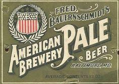 Vintage Beer Labels / Google Image Result for http://www.kilduffs.com/Beer_116_Baltimore_FredBauernsc