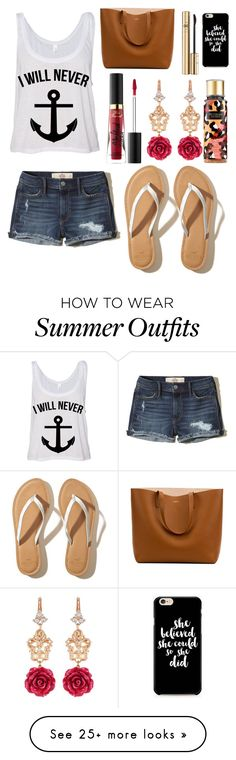 """Untitled #11777"" by ohnadine on Polyvore featuring Hollister Co., Too Faced Cosmetics, Dolce&Gabbana, Caso and Victoria's Secret"