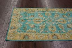 $5 Off when you share! Overdye Jalsa Turquoise Rug | Traditional Rugs #RugsUSA