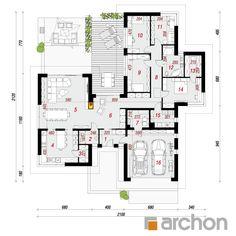 projekt Dom w kliwiach 3 (G2) rzut parteru