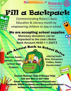 Fill a Backpack 2017