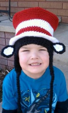 FREE Pattern - Happy Birthday Dr Seuss Crochet Hat - Snappy Tots