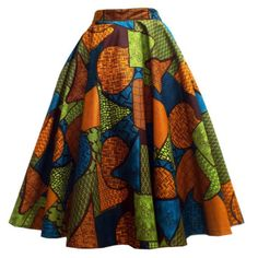 Chidera African Print Midi Circle Skirt (Orange/Green/Blue) Source by sofiastrommer African Print Skirt, African Print Clothing, African Print Dresses, African Fabric, African Prints, African Dress, African Dashiki, African Clothes, African Inspired Fashion