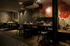 A sleek, modern Vietnamese in Soho with several qualities beyond its delightfully skanky name. Cafe Me, Bar Interior, Inside Outside, Step Inside, Decoration, Restaurant Bar, Interior Architecture, Living Spaces, Cool Designs