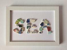 Seaside picture beach pottery picture sea by Suzziesbitsandbobs