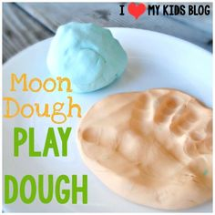 DIY play dough only uses 2 ingredients!! ( I named it Moon Dough:)