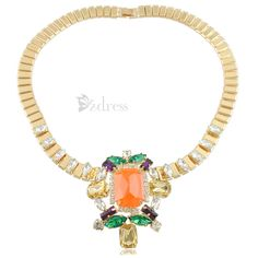 Gorgeous Style Alloy Gem Embellished Necklace For Women