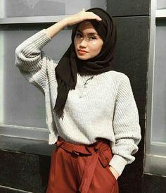 Modest Fashion Hijab, Modern Hijab Fashion, Street Hijab Fashion, Casual Hijab Outfit, Hijab Fashion Inspiration, Muslim Fashion, Urban Fashion, Fashion Outfits, Hijab Style