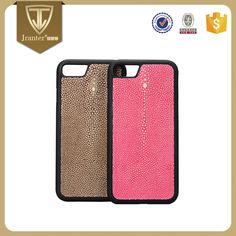 Stingray Leather Case For Mobile Phone, China Mobile Phone Accessories Mobile Case Factory