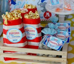 peanuts and popcorn are a must for a circus party theme #SocialCircus