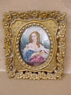 Lovely Vintage Framed Cameo Creation Portrait by TheJewelMystique, $20.00