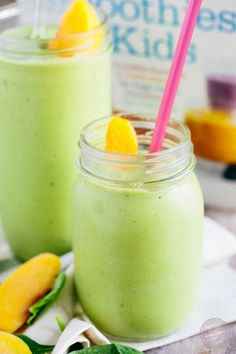 The perfect peachy green smoothie to give you that midday kick! Sneak those veggies into this smoothie and your kids will NEVER know!