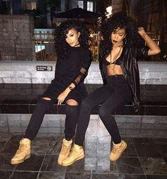Designer Clothes, Shoes & Bags for Women Tomboy Fashion, Fashion Killa, Look Fashion, Fashion Outfits, Go Best Friend, Best Friend Outfits, Best Friend Goals, Black Girl Magic, Black Girls