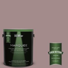 BEHR MARQUEE 1-gal. #PPU17-15 Cameo Rose Semi-Gloss Enamel Exterior Paint