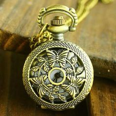Butterfly-Perforated Pocket Watch