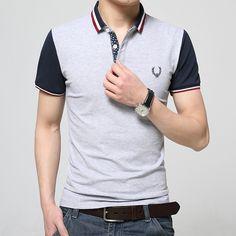 2016 de La Moda EE.UU. Polo Camisas de Polo de Los Hombres Camisa de Verano de Manga Corta Polo Homme 100% Algodón Más Tamaño Polos Hombre Manga Corta Marca