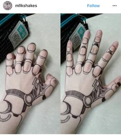 Base for articulated hand The post Base for articulated hand appeared first on Woman Casual - Tattoos And Body Art Body Art Tattoos, Hand Tattoos, Cool Tattoos, Tatoos, Tattoo Art, Art Sketches, Art Drawings, Drawings On Hands, Sharpie Tattoos