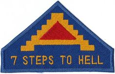 7th Army WWII '7 STEPS TO HELL' sleeve insignia patch