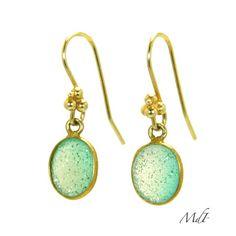 Gold Druzy Quartz Earrings, http://jewelrybymarielledeparis.com/ Chic & Shine with a Parisian flair! #earrings #jewelry
