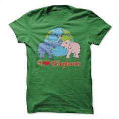 I Heart Elephants T Shirt, Hoodie, Sweatshirts - create your own shirt #hoodie #fashion