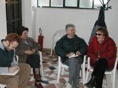 Ai Boschi di Lari nel febbraio 2005 con Benito Vaglini e Renza Cecconi