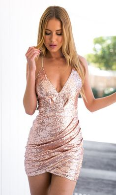 Yours Truly Dress sparkly gold sequin dress by Mura Boutique