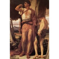 """Buyenlarge Jonathan's Token to David by Frederick Leighton Painting Print Size: 36"""" H x 24"""" W x 1.5"""" D"""